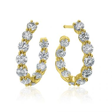 Gumuchian New Moon 18k Yellow Gold Hoop Earrings