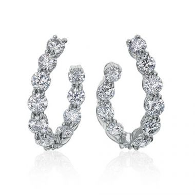 Gumuchian New Moon Platinum Hoop Earrings