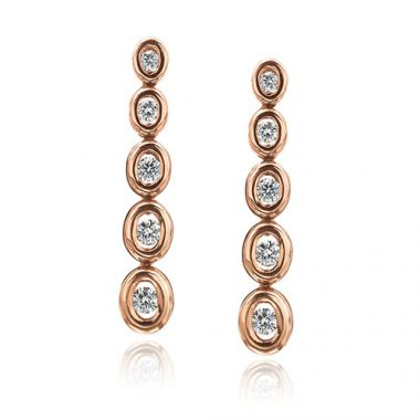 Gumuchian Oasis 18k Rose Gold Illusion Diamond Drop Earrings