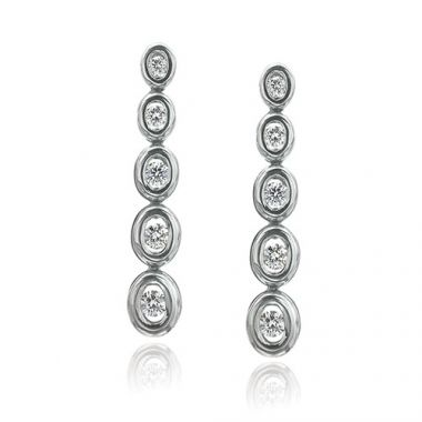 Gumuchian Oasis 18k White Gold Illusion Diamond Drop Earrings