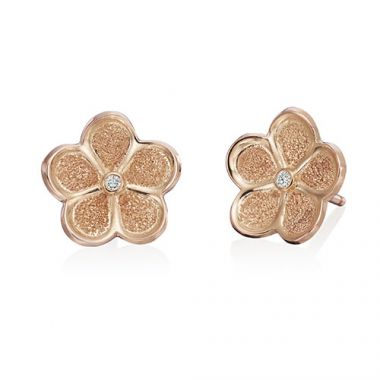 Gumuchian G. Boutique 18k Rose Gold Diamond Daisy Earrings