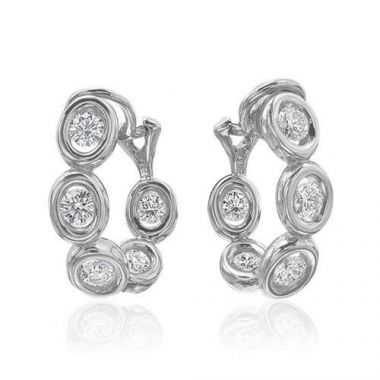 Gumuchian Oasis 18k White Gold Illusion Diamond Hoop Earrings