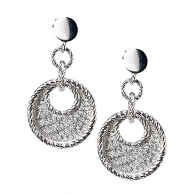 Gumuchian 18k White Gold Pave Doorknocker Earrings