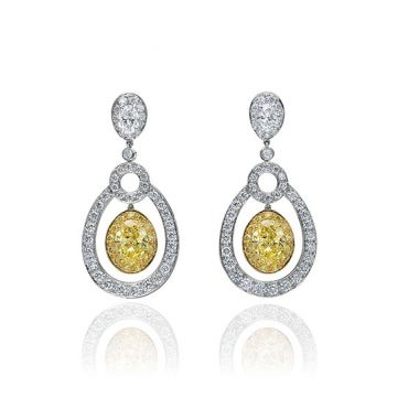 Gumuchian Carousel 18k Two Tone Gold Diamond Dancing Earrings