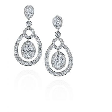 Gumuchian Carousel 18k White Gold Cut Diamond Dancing Earrings