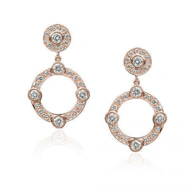 Gumuchian 18k Pink Gold Diamond Carousel Earrings