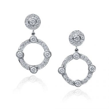 Gumuchian Carousel 18k White Gold Jubilee Diamond Drop Earrings