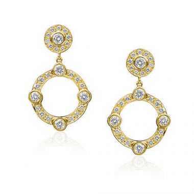 Gumuchian Carousel 18k Yellow Gold Jubilee Diamond Drop Earrings