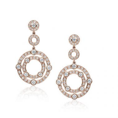 Gumuchian Carousel 18k Rose Gold Jubilee Diamond Drop Earrings