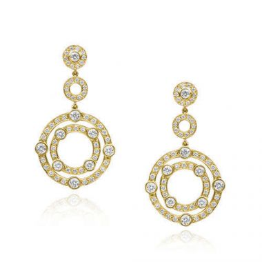 Gumuchian 18k Yellow Gold Diamond Carousel Earrings