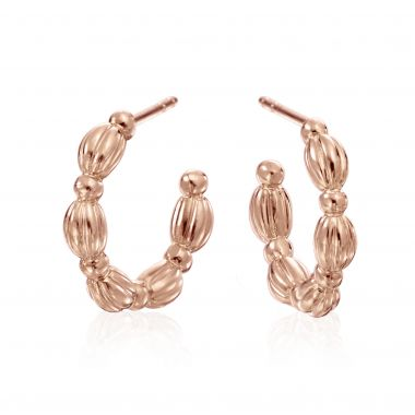 Gumuchian Nutmeg 18k Rose Gold Hoop Earrings