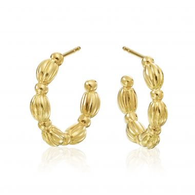 Gumuchian Nutmeg 18k Yellow Gold Hoop Earrings