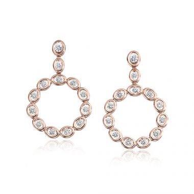 Gumuchian Oasis 18k Rose Gold Illusion Diamond Hoop Earrings