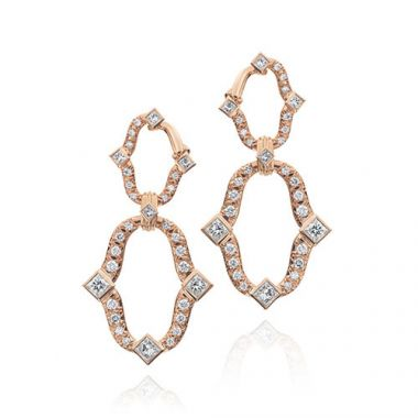 Gumuchian Secret Garden 18k Rose Gold Diamond Dangle Earrings
