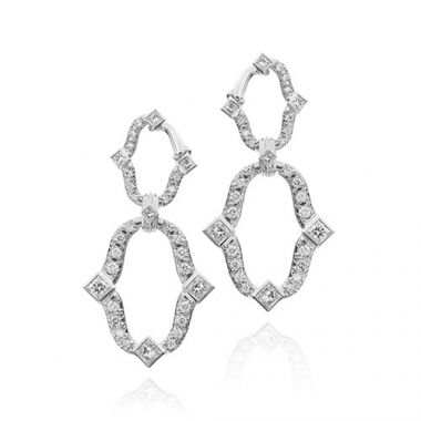 Gumuchian Secret Garden 18k White Gold Diamond Dangle Earrings