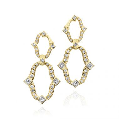 Gumuchian Secret Garden 18k Yellow Gold Diamond Dangle Earrings
