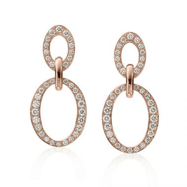 Gumuchian Carousel 18k Rose Gold Diamond Earrings