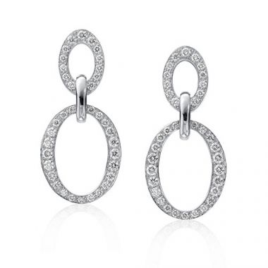 Gumuchian Carousel 18k White Gold Diamond Earrings