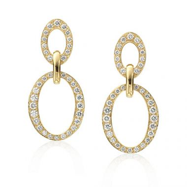 Gumuchian Carousel 18k Yellow Gold Diamond Earrings