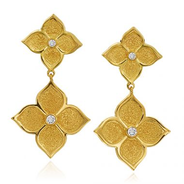 Gumuchian 18k Yellow Gold 0.10ct Diamond Dangle Earrings