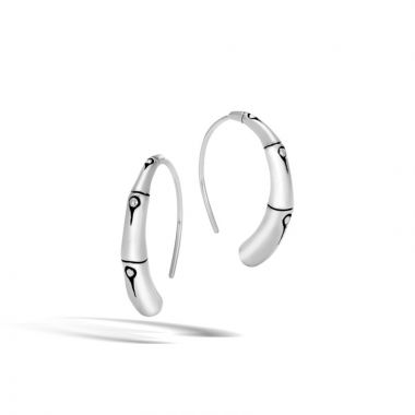 John Hardy Sterling Silver Bamboo Hoop Earrings