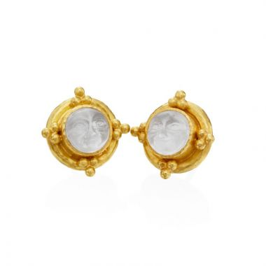 Elizabeth Locke 19k Yellow Gold Earrings
