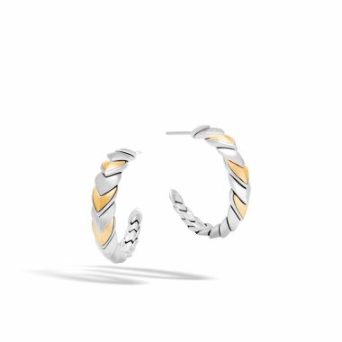 John Hardy Sterling Silver & 18k Yellow Gold Legends Naga Hoop Earrings