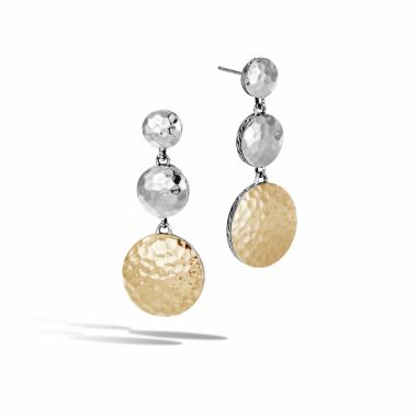 John Hardy Sterling Silver & 18k Yellow Gold Dot Drop Earrings