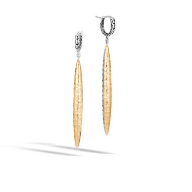 John Hardy Sterling Silver & 18k Yellow Gold Classic Chain Drop Earrings