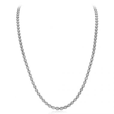 Gumuchian 18k White Gold Diamond Oasis Necklace