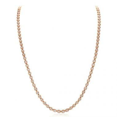 Gumuchian Oasis 18k Rose Gold Illusion Diamond Necklace