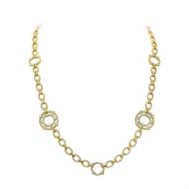Gumuchian Carousel 18k Yellow Gold Diamond Jubilee Necklace