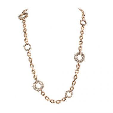 Gumuchian Carousel 18k Rose Gold Diamond Necklace