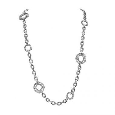 Gumuchian Carousel 18k White Gold Diamond Necklace