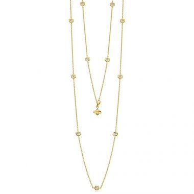 "Gumuchian Mini ""B"" 18k Yellow Gold Diamond Necklace"