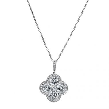 Gumuchian Fleur 18k White Gold Diamond Necklace