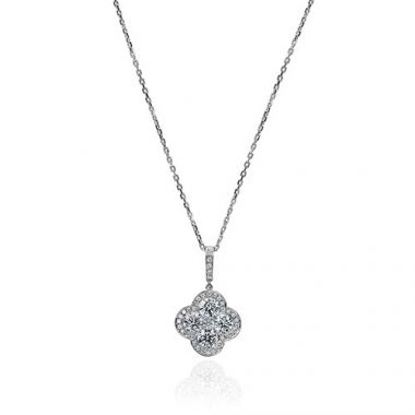 Gumuchian Fleur Platinum Diamond Necklace
