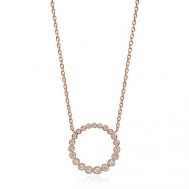 Gumuchian Nutmeg 18k Rose Gold Diamond Necklace