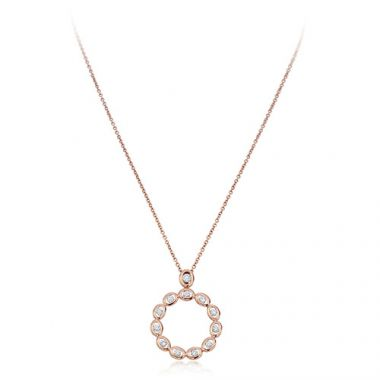 Gumuchian Oasis 18k Rose Gold Illusion Diamond Pendant
