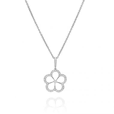 Gumuchian G. Boutique 18k White Gold Diamond Daisy Necklace