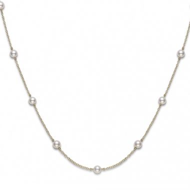 Mikimoto 18k White Gold Akoya Pearl Necklace
