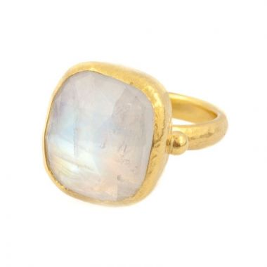 Gurhan One of a kind moonstone ring- 24K gold