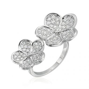 Gumuchian G. Boutique 18k White Gold Diamond Daisy Ring