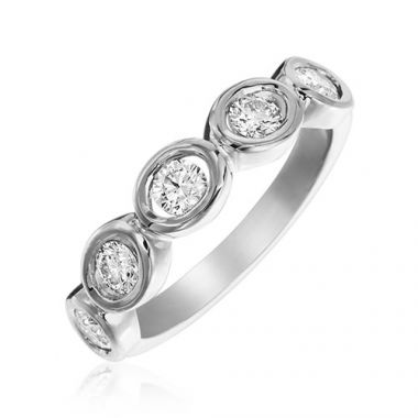 Gumuchian Oasis 18k White Gold Illusion Diamond Ring
