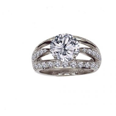 Gumuchian Platinum Diamond Luna Semi-Mount Engagement Ring