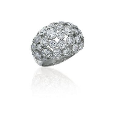 Gumuchian Platinum Diamond Cloud Nine Ring