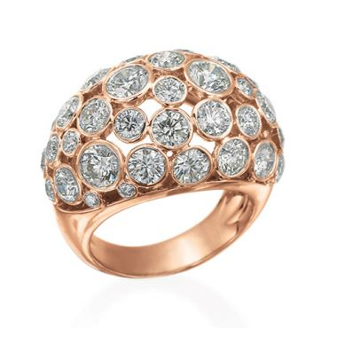 Gumuchian 18k Pink Gold & Diamond Cloud Nine Ring