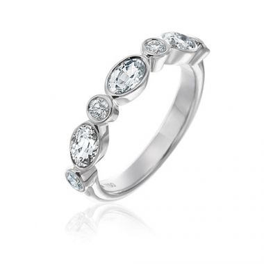 Gumuchian Marbella 18k White Gold Diamond Wedding Band
