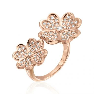 Gumuchian G. Boutique 18k Rose Gold Diamond Kelly Ring