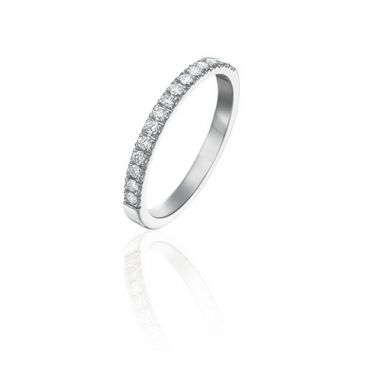 Gumuchian Bridal 18k White Gold Diamond Wedding Band